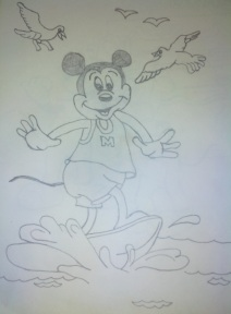 Mickey the Surfer