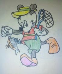 Mickey goes Fishing