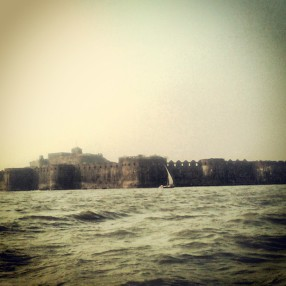 While reaching Janjira Fort
