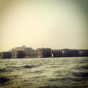 While reaching Janjira Fort