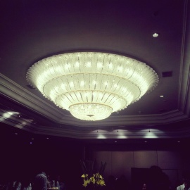 Chandelier at The Leela's Ballroom