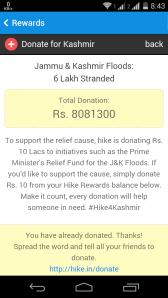 Funds raised by hike (still counting)