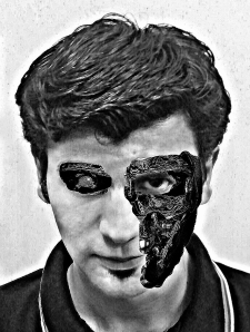 2 Face (Terminator B&W)
