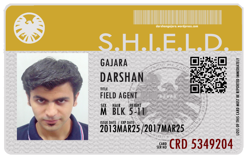 Get Your Own S.H.I.E.L.D. ID Card – Darshan Gajara