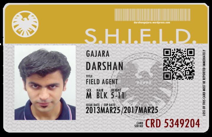 Agent DG's S.H.I.E.L.D ID Card