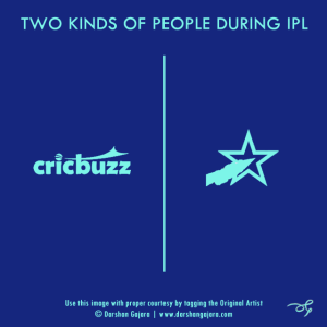 Two Kinds of People During IPL (Poster 1)