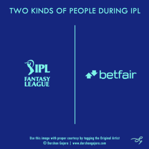 Two Kinds of People During IPL (Poster 2)