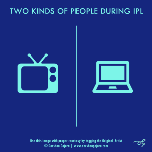 Two Kinds of People During IPL (Poster 3)