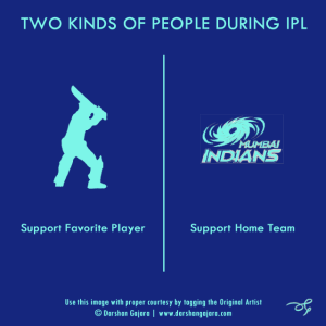 Two Kinds of People During IPL (Poster 4)