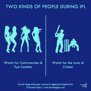 Two Kinds of People During IPL (Poster 5)