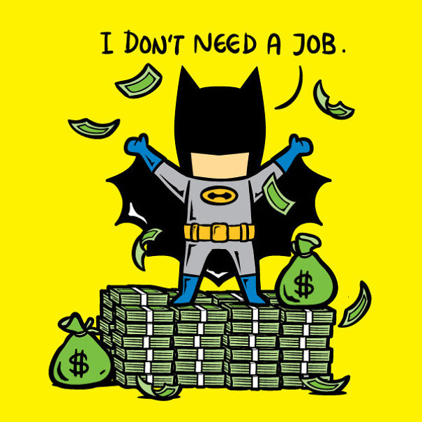 Batman from Flying Mouse 365's Part-time Job series