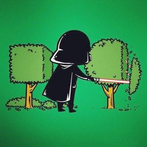 Darth 'Gardener' Vader