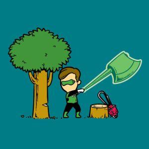 Green 'Lumberjack' Lantern
