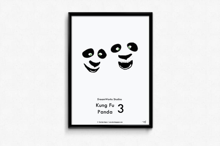 Kung Fu Panda 3 Minimal Poster