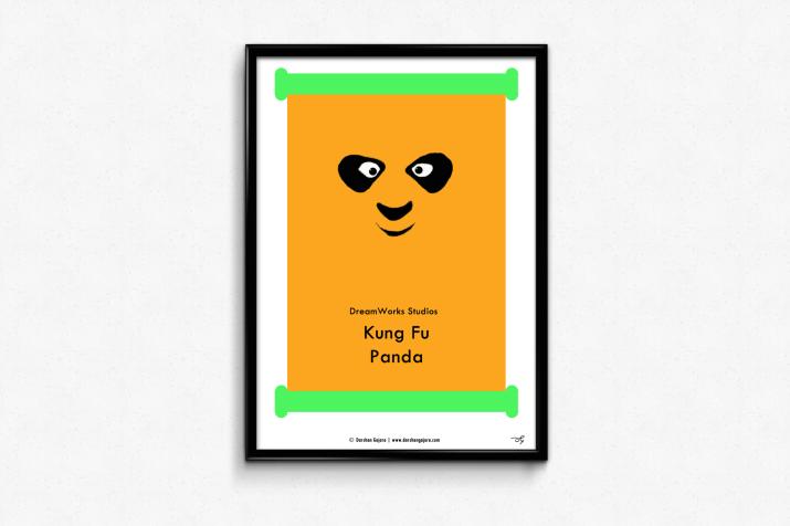 Kung Fu Panda Minimal Poster