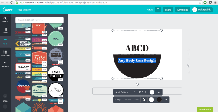 Canva Design Editor Screen