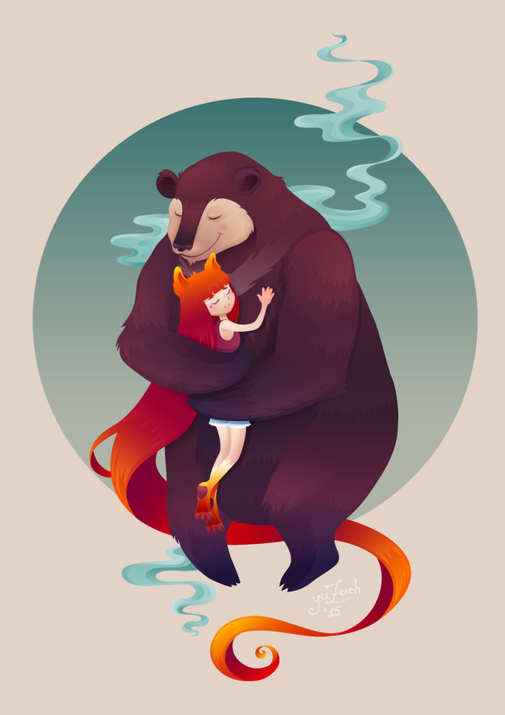 Bear hug by Yuzach