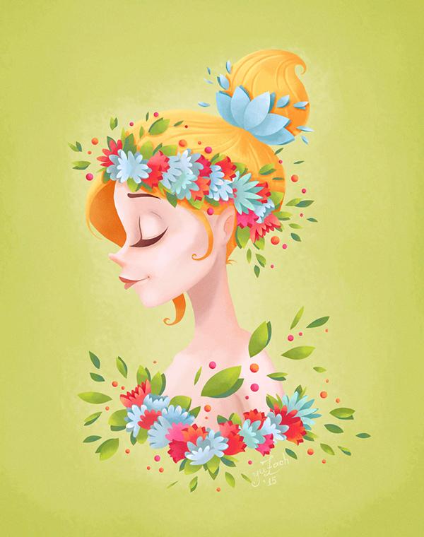 Spring Girl by Yuzach