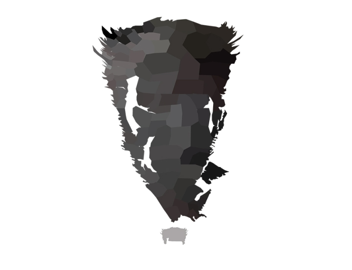 Wolverine Low Poly Face