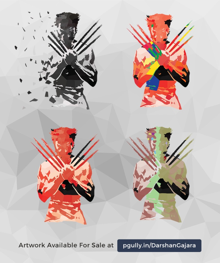 Wolverine Low Poly Variations