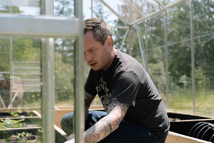 Paul in his Garden