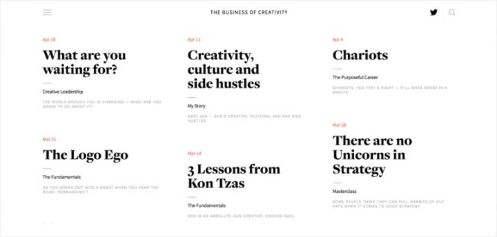 Jim's Journal – The Business of Creativity