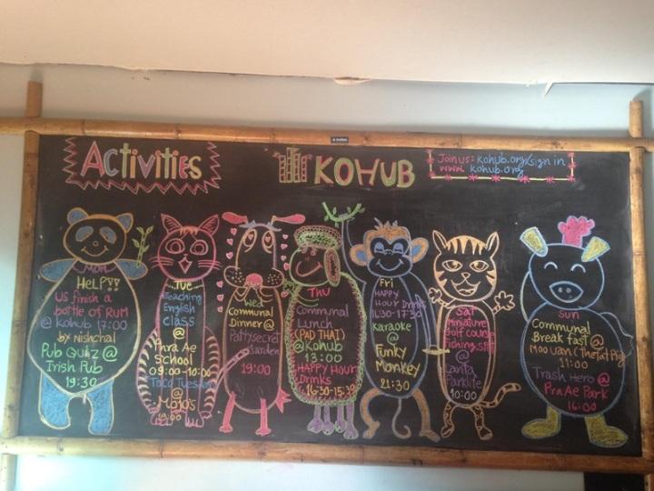 KoHub Weekly Schedule