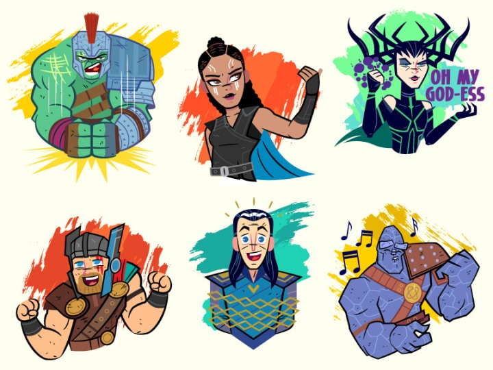 Thor Ragnarok (Facebook Stickers) by Dennis Salvatier