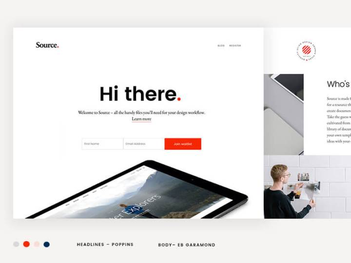 Source landing page by Nguyen Le