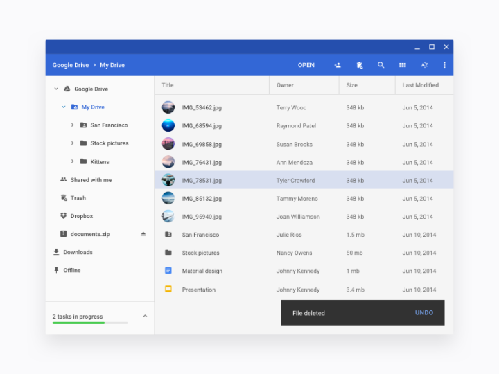 Chrome OS Files app by Sebastien Gabriel
